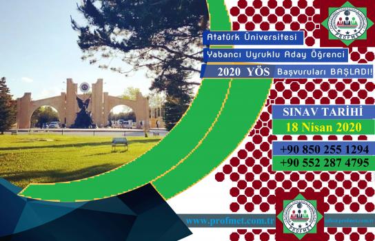 Atatürk Üniversitesi Yös 2020 Takvimi